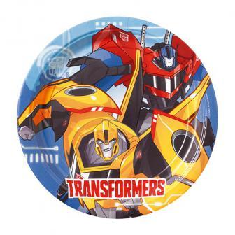 """8 assiettes en carton """"Transformers fantastiques"""""""