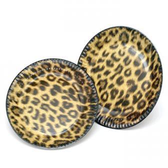 "10 assiettes en carton ""Look léopard"""