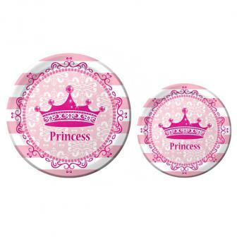 "8 assiettes en carton ""Royal Princess"""
