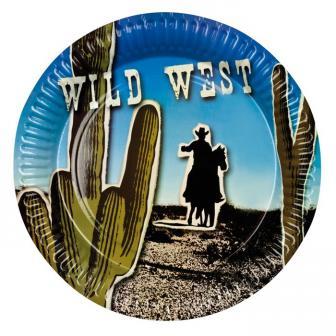 """6 assiettes en carton """"Wild West"""""""