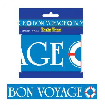 """Rouleau de rubalise """"Bon Voyage"""" 6 m"""