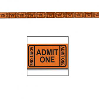 """Rouleau de rubalise """"Tickets d'entrée"""" 15 m"""