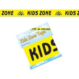 """Rouleau de rubalise """"Kids Zone"""" 6 m"""