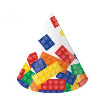 """8 chapeaux de fête """"Briques colorées"""""""