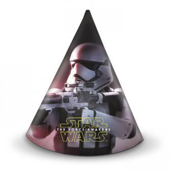 "6 chapeaux de fête ""Star Wars 7"""