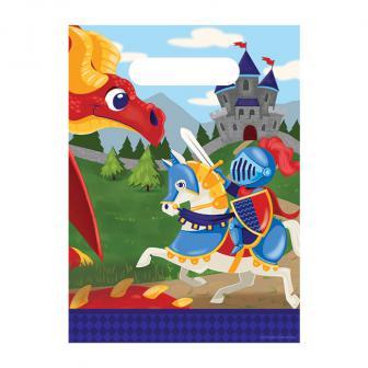 "8 pochettes surprises ""Chevalier contre dragon"""