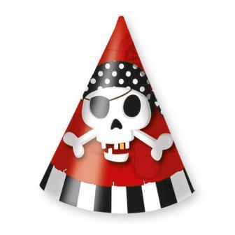 """6 chapeaux de fête """"L'aventure pirate"""""""