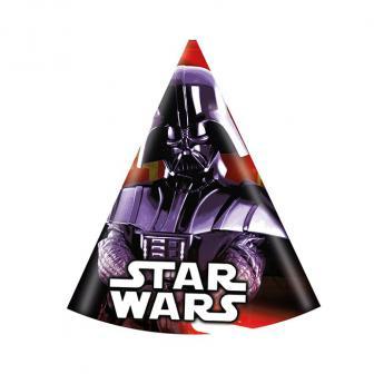 """Chapeaux de fête """"Ultimative Star Wars"""" 6 pcs."""