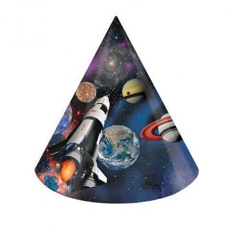 """6 chapeaux de fête """"Sortie dans l'espace"""""""