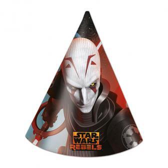 """6 chapeaux de fête """"Star Wars Rebels"""""""