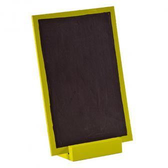 Ardoise en bois personnalisable avec présentoir 15 x 10 cm - vert
