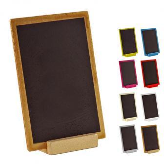 Ardoise en bois personnalisable avec présentoir 15 x 10 cm