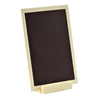 Ardoise en bois personnalisable avec présentoir 15 x 10 cm - naturel