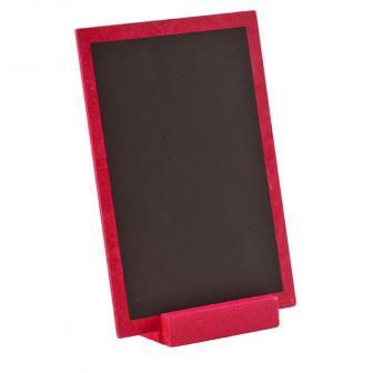 Ardoise en bois personnalisable avec présentoir 15 x 10 cm - rose vif