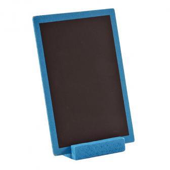 Ardoise en bois personnalisable avec présentoir 15 x 10 cm - turquoise