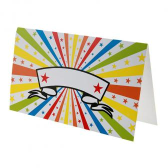 """10 cartons nominatifs """"Étoiles multicolores"""" personnalisables"""