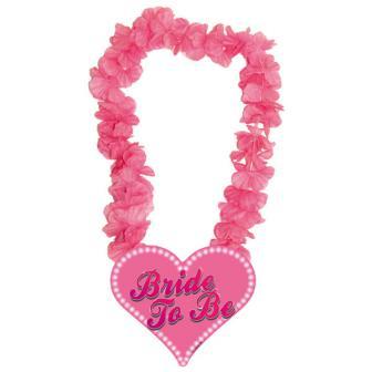 """Collier de fleurs fuchsia """"Bride to be"""""""