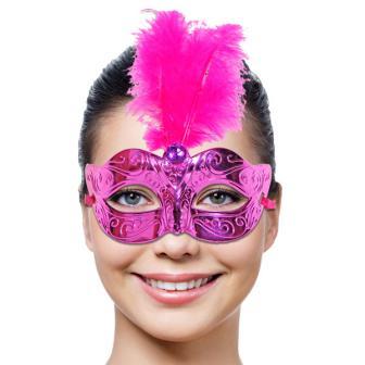 Masque vénitien fuchsia