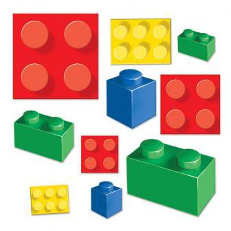 """Déco de salle """"Briques hautes en couleur"""" 20 pcs."""