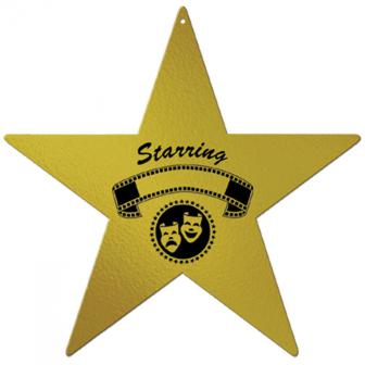 """Déco de salle """"Étoile dorée star"""" 30 cm"""