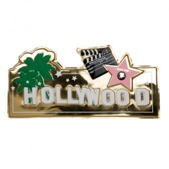"""Déco de salle panneau """"Hollywood"""" 60 x 22 cm"""
