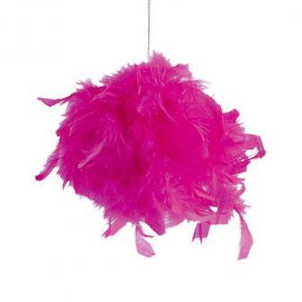 """Déco de salle """"Boule de plumes"""" - rose vif-10 cm"""
