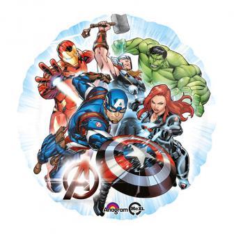 "Ballon en aluminium rond ""Avengers"" 43 cm"
