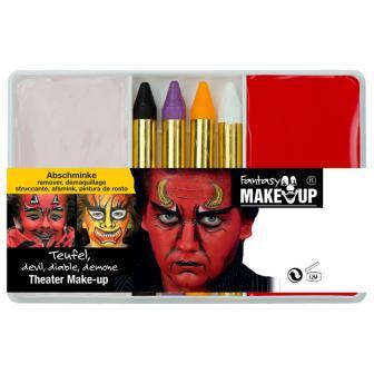 """Set de maquillage """"Démon ou diable"""" 6 pcs"""