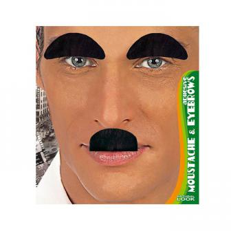 Moustache et sourcils noirs 3 pcs.