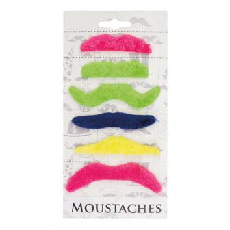 """Moustaches """"Fête de couleurs"""" 6 pcs."""