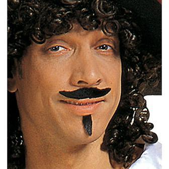 Moustache et bouc noirs