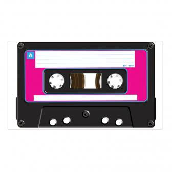 """Déco murale autoadhésive """"Cassette"""" 51 cm"""