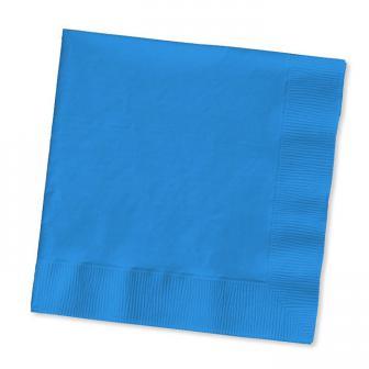 50 serviettes - bleu