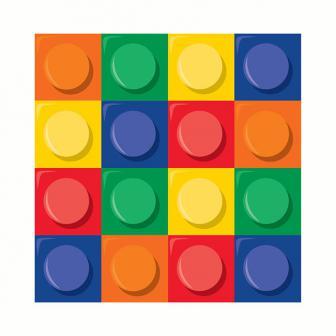 """16 serviettes """"Briques colorées"""""""
