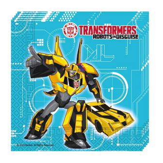 "20 serviettes Transformers ""Robots in disguise"""