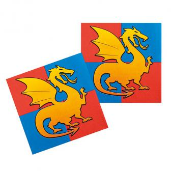 """12 Serviettes """"Coeur de dragon"""""""