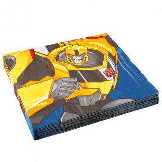 "20 serviettes ""Transformers fantastiques"""