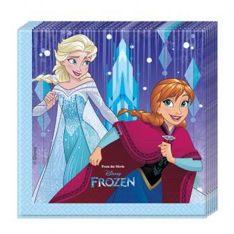 """20 serviettes """"La reine des neiges - Tempête de neige"""""""