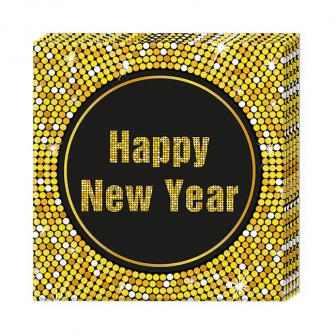 "20 serviettes ""Glamour New Year"""