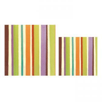 "16 serviettes ""Happy Stripes"""
