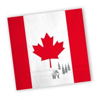 "20 serviettes ""Canada"""