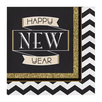 """16 serviettes """"Sparkling New Year"""""""