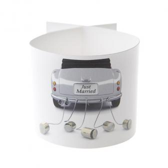 "6 ronds de serviette ""Just Married Cabrio"""