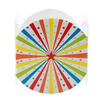 """6 ronds de serviette """"Étoiles multicolores"""""""