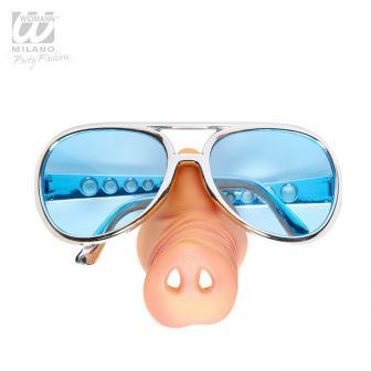 Lunettes de soleil avec nez de cochon