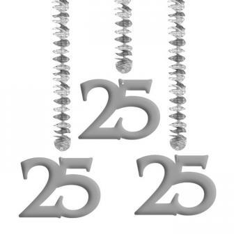 """3 suspensions à spirales """"25 ans"""""""