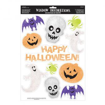 "Autocollants statiques ""Happy Halloween"" 11 pcs."