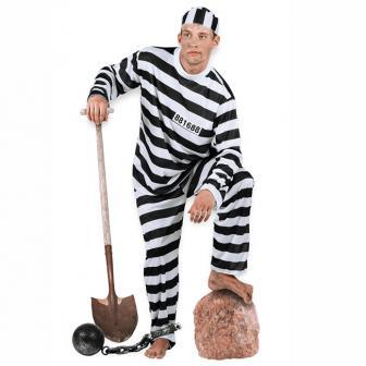 """Costume de détenu """"Taulard"""" 3 pcs"""