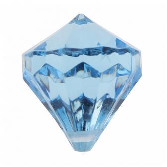 """6 diamants de déco """"Pierres précieuses colorées"""" - bleu"""