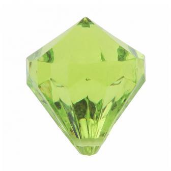 """6 diamants de déco """"Pierres précieuses colorées"""" - vert"""